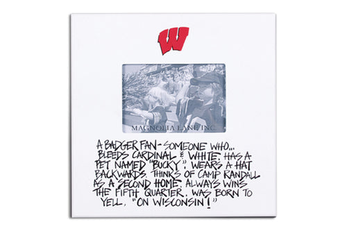 University of Wisconsin Definition of a Fan Picture Frame