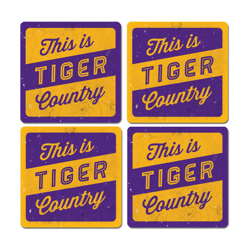 Louisiana State University Thirsty Coaster 4-Pack