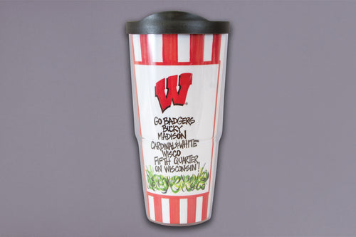 University of Wisconsin Travel Tumbler with Lid (24 oz)