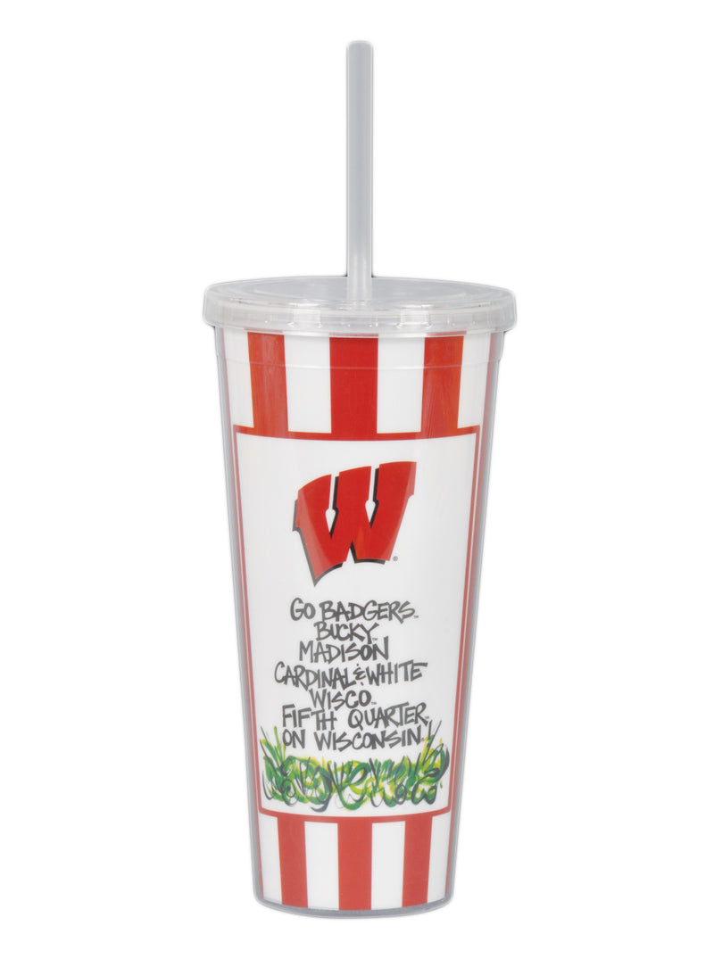 University of Wisconsin 22oz Tumbler with Straw
