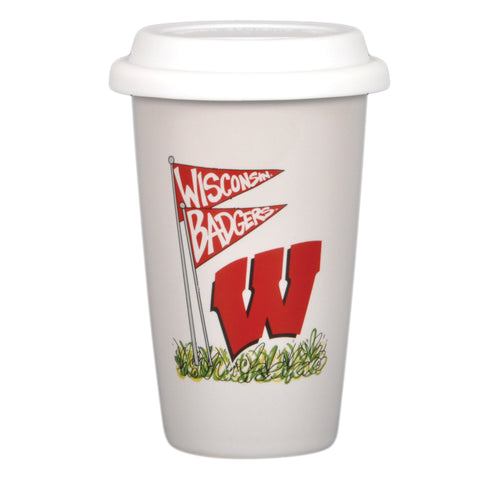 University of Wisconsin 14oz Travel Mug