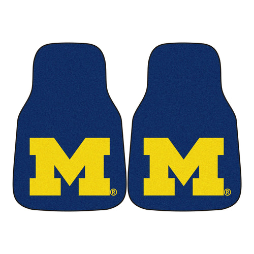 University of Michigan 2-Piece Logo Carpet Car Mats