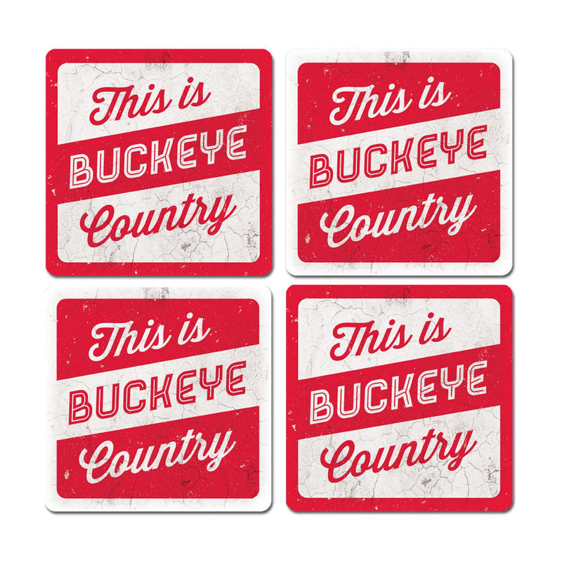 Ohio State University Thirsty Coaster 4-Pack