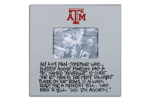 Texas A&M University Definition of a Fan Picture Frame