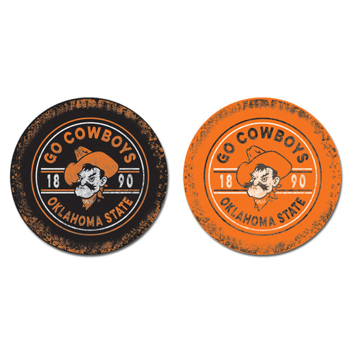 Oklahoma State University Sandstone Car Coasters
