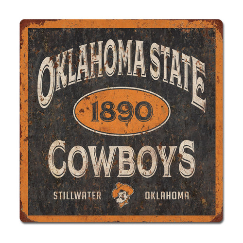 Oklahoma State University Five & Dime Large Tin Sign