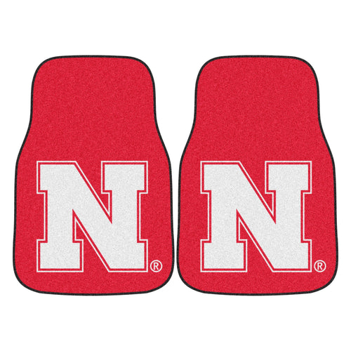 University of Nebraska Red Carpet Car Floor Mats - 2-Piece