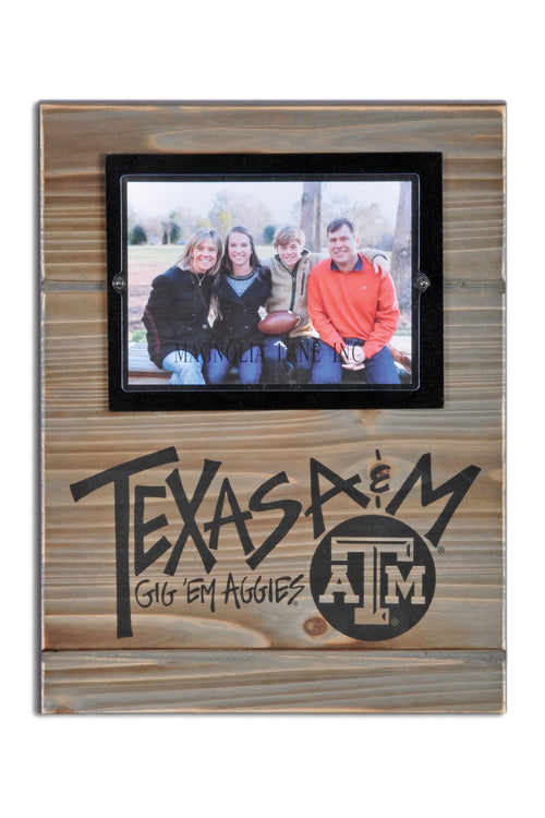 Texas A&M University Wood Plank Frame