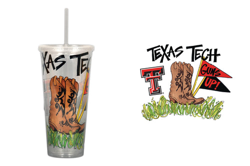 Texas Tech University 22oz Tumbler with Straw