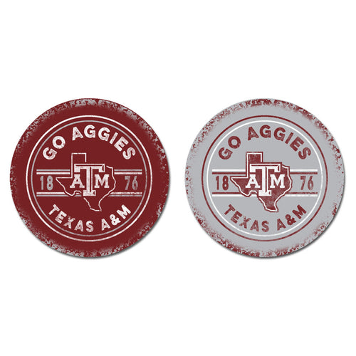 Texas A&M University Sandstone Car Coasters