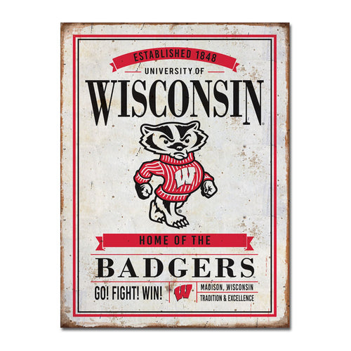 University of Wisconsin Vintage Tin Sign