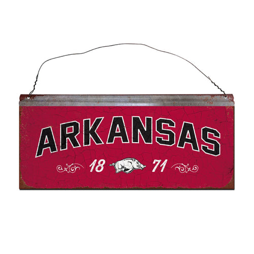 University of Arkansas Small Tin Sign