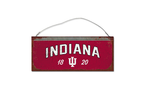 Indiana University Small Tin Sign