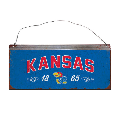 University of Kansas Small Tin Sign
