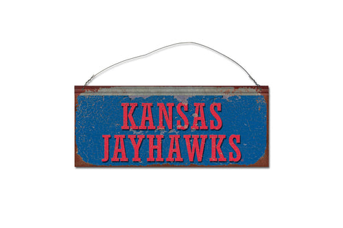 University of Kansas Jayhawks Small Tin Sign