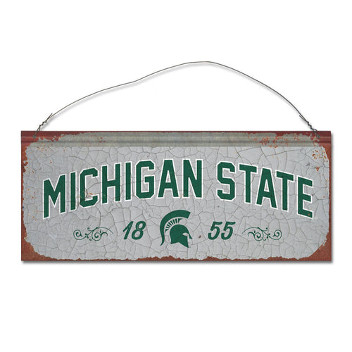 Michigan State University Small Tin Sign