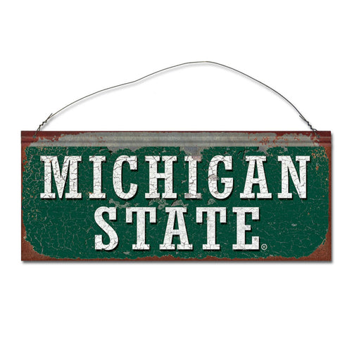 Michigan State University Spartans Small Tin Sign