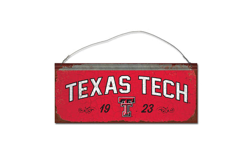Texas Tech University Small Tin Sign