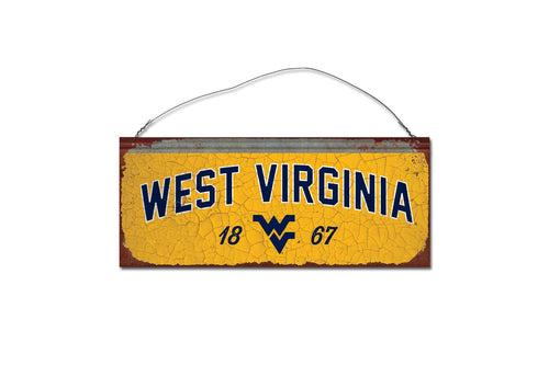 West Virginia University Small Tin Sign