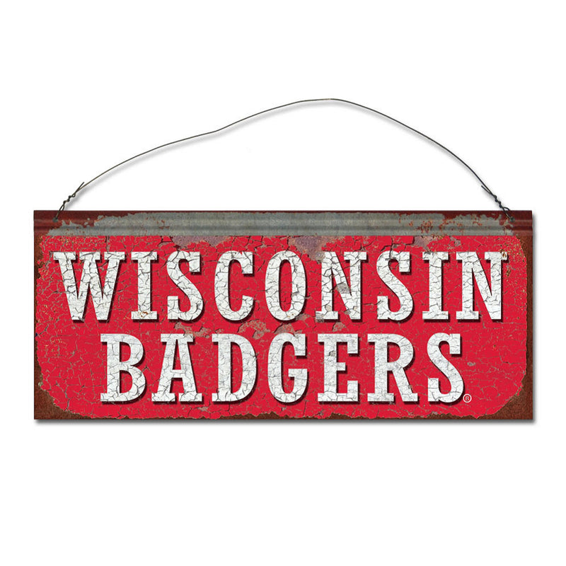 University of Wisconsin Badgers Small Tin Sign