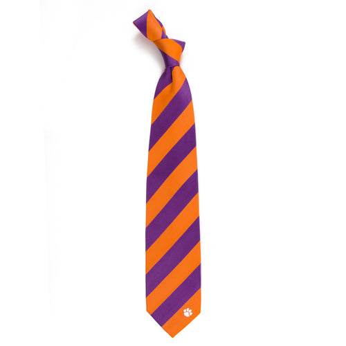 Clemson University Regiment Woven Silk Tie