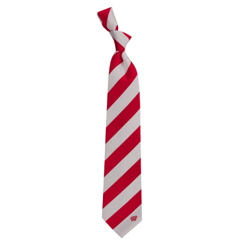 University of Wisconsin Regiment Woven Silk Tie