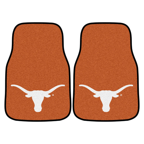 University of Texas 2-Piece Logo Carpet Car Mats