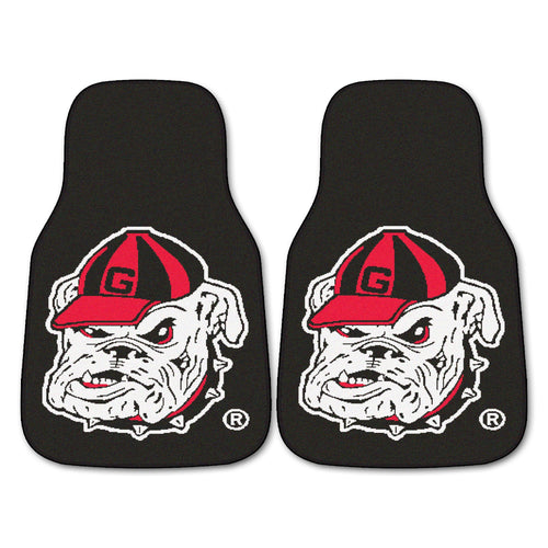University of Georgia Bulldogs Black Carpet Car Floor Mats - 2-Piece