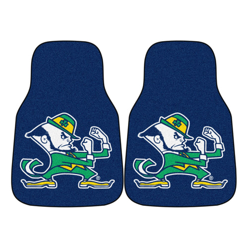University of Notre Dame Fighting Irish Carpet Car Floor Mats - 2-Piece