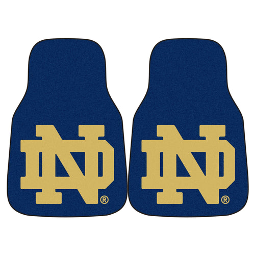 University of Notre Dame Carpet Car Floor Mats - 2-Piece