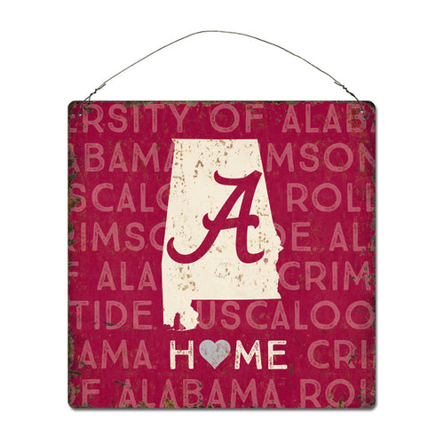 University of Alabama Home State Tin Sign