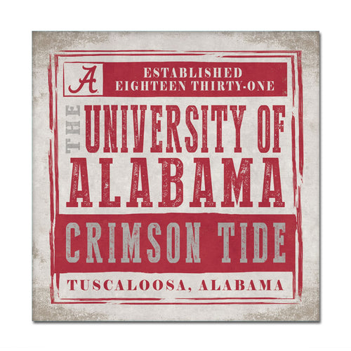 University of Alabama Chronicle Canvas Wall Art