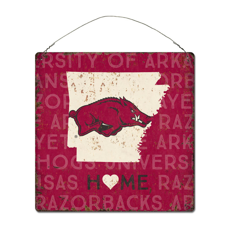 University of Arkansas Home State Tin Sign