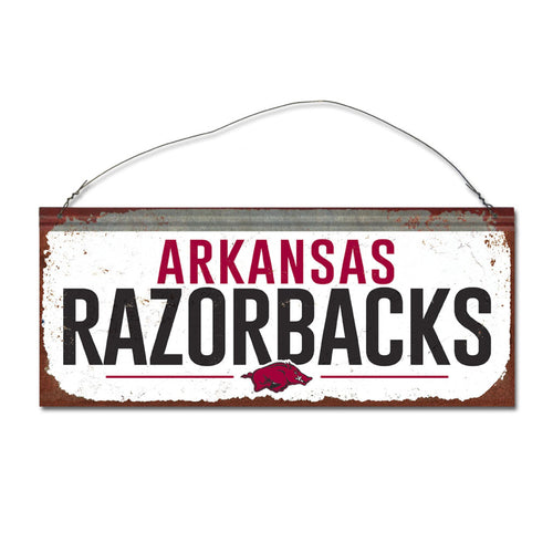 University of Arkansas Small White Sign