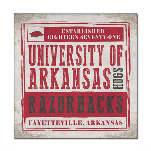 University of Arkansas Chronicle Canvas Wall Art