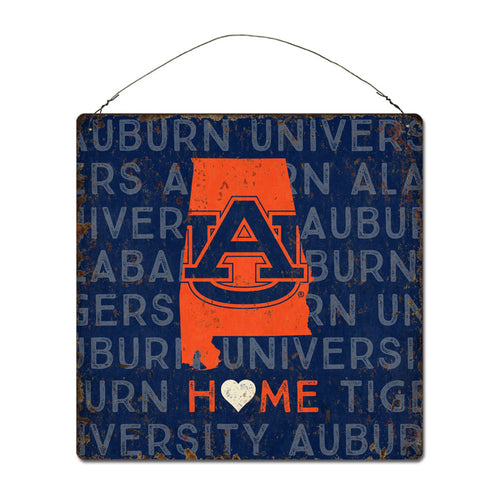 Auburn University Home State Tin Sign