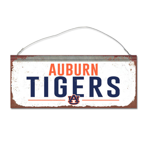 Auburn University Small White Sign