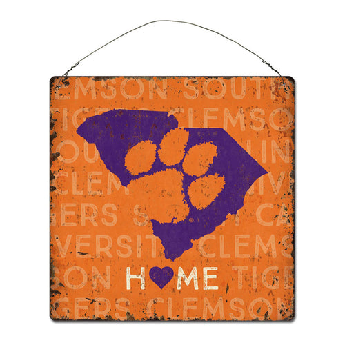 Clemson University Home State Tin Sign