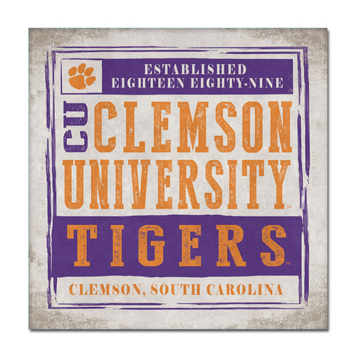 Clemson University Chronicle Canvas Wall Art