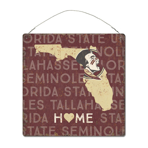 Florida State University Home State Tin Sign