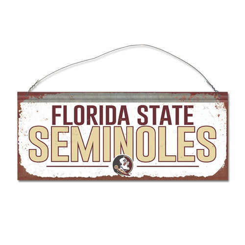 Florida State University Small White Sign
