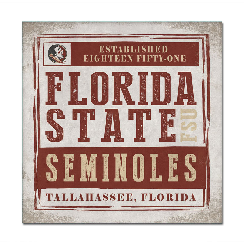 Florida State University Chronical Canvas Wall Art