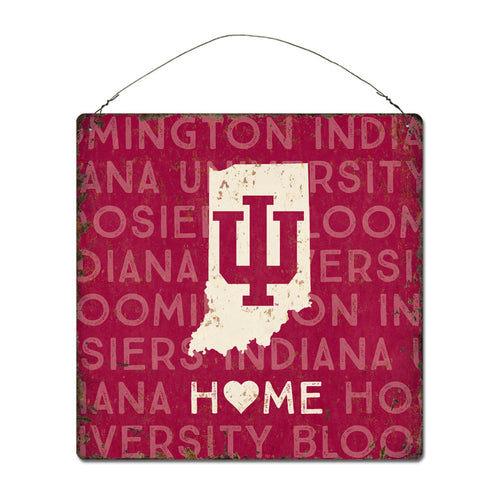 Indiana University Home State Tin Sign