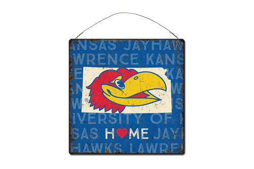 University of Kansas Home State Tin Sign