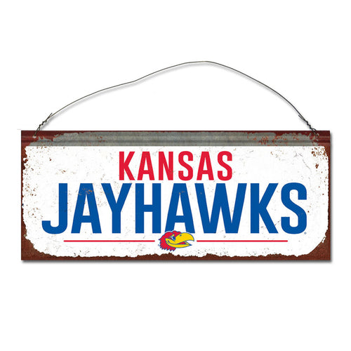 University of Kansas Small White Sign