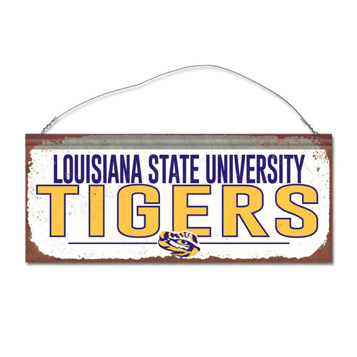 Louisiana State University Small White Sign