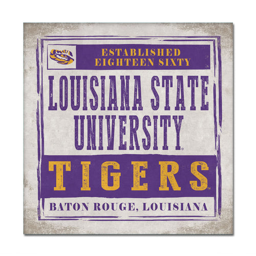 Louisiana State University Chronical Canvas Wall Art