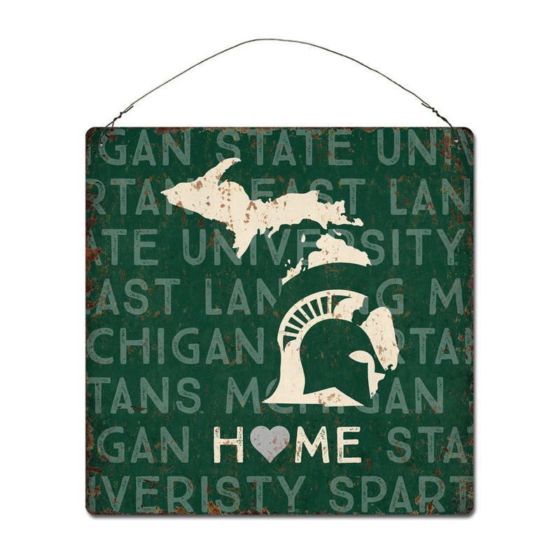 Michigan State University Home State Tin Sign