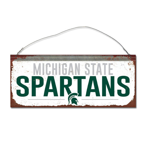 Michigan State University Small White Sign