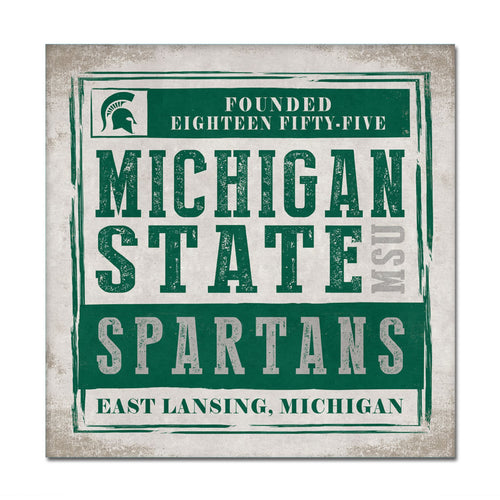 Michigan State University Chronical Canvas Wall Art